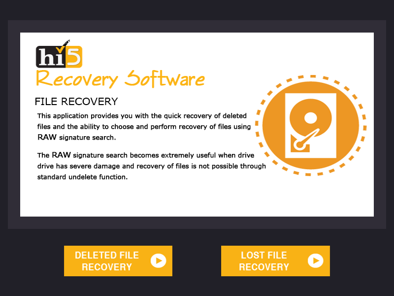 Hi5 File Recovery - perfect file recovery app