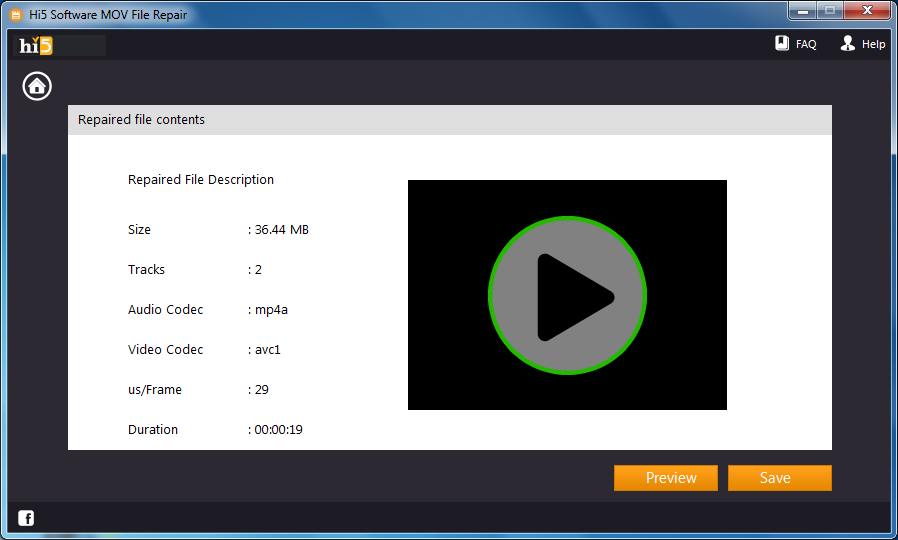 MOV Datei Reparieren Software - MOV Dateireparatur-Tool