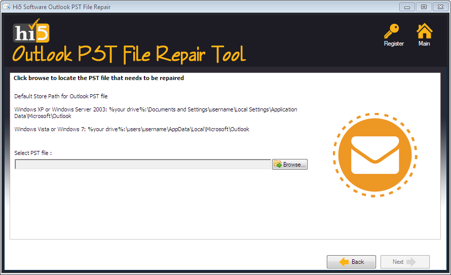 Hi5 Outlook PST File Repair Tool
