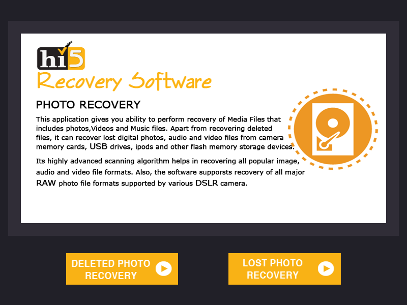 One application to recover deleted and lost photos