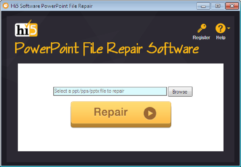 Free download Hi5 Software PowerPoint File Repair