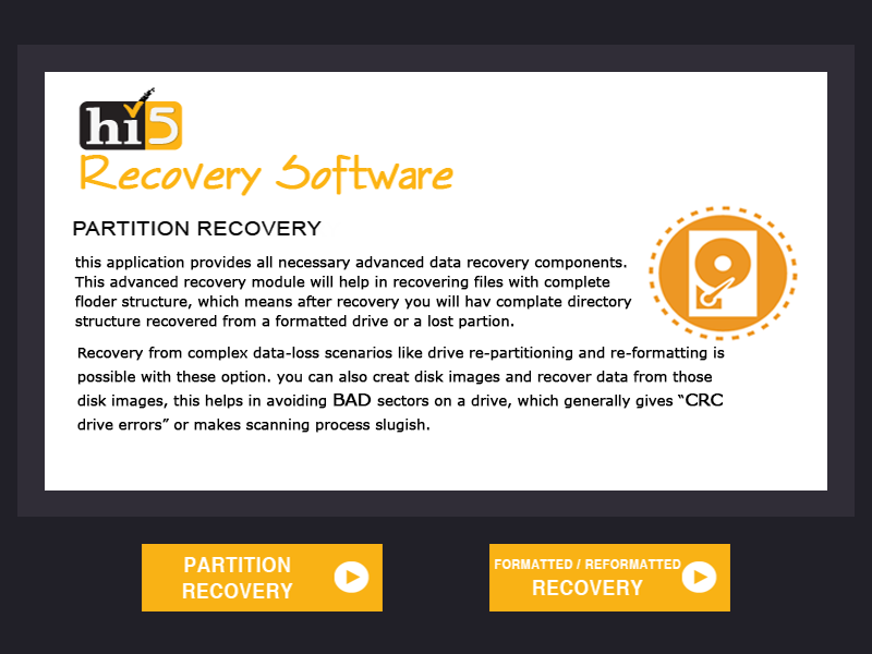 Free download Hi5 Software Partition Recovery
